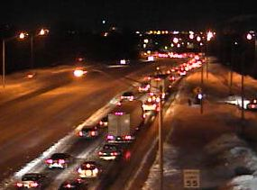 I-95 near exit 22 the rest stop.  Traffic now has 2 lanes!