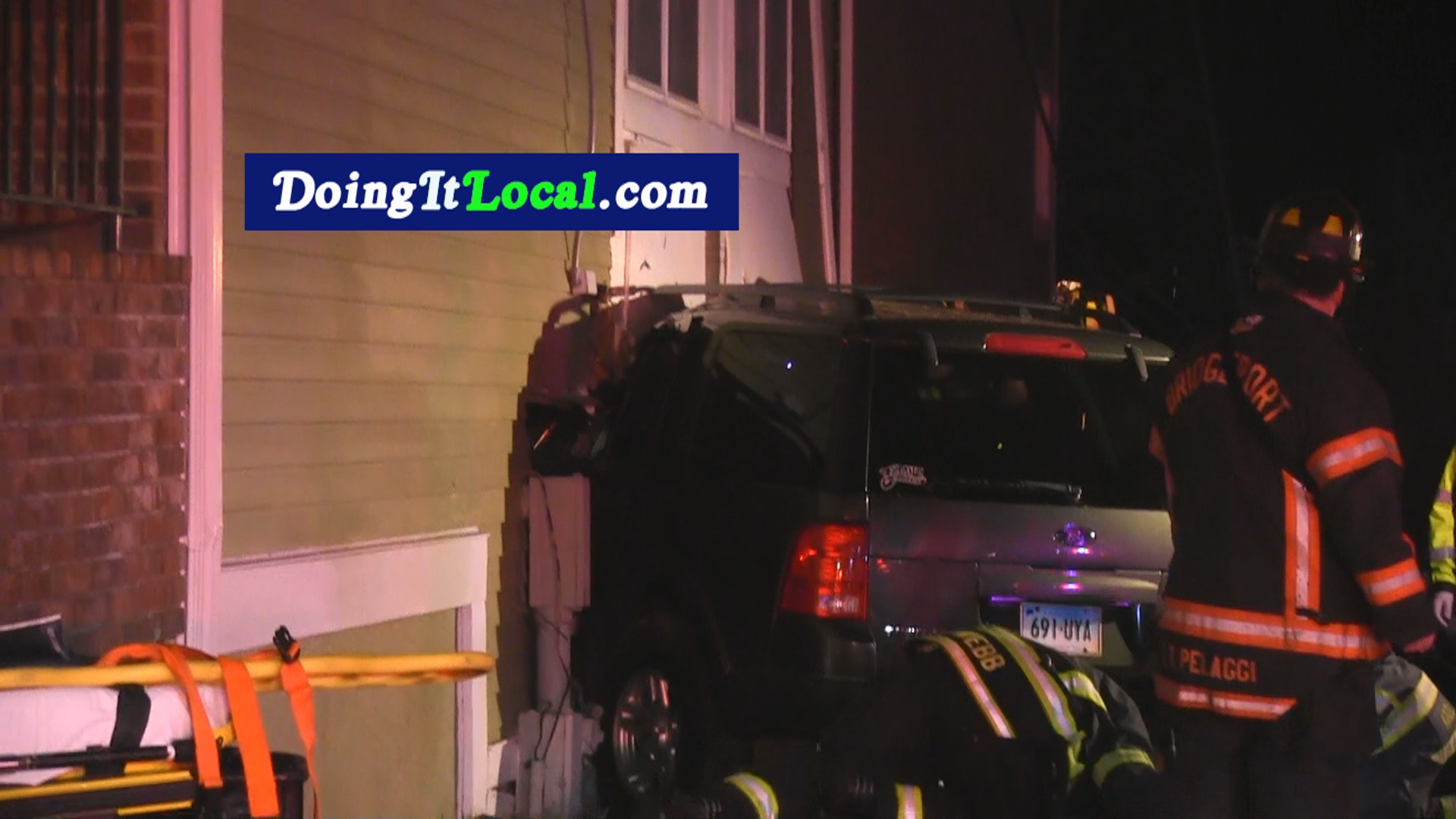 Bridgeport News: Car Into A Building