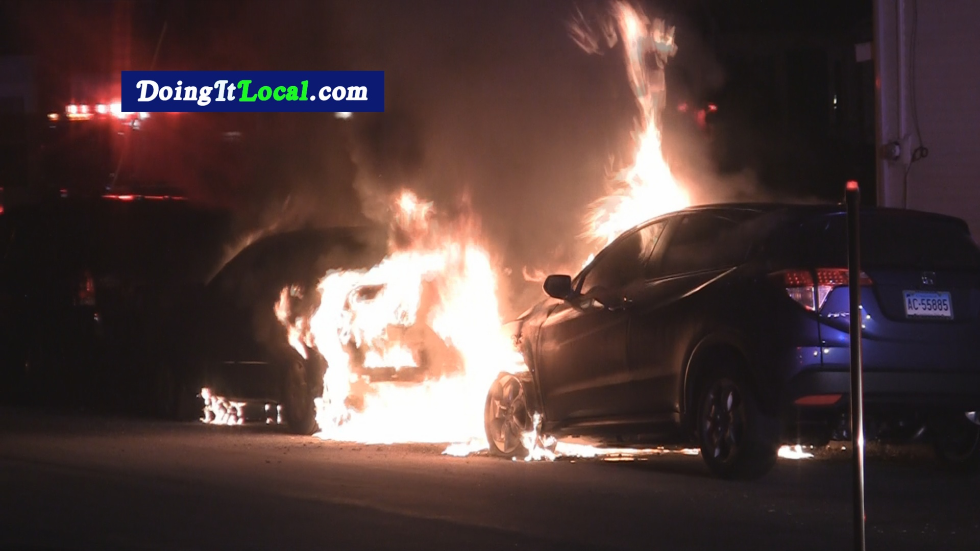 Tonight's Vehicle Fire Was A Double Header