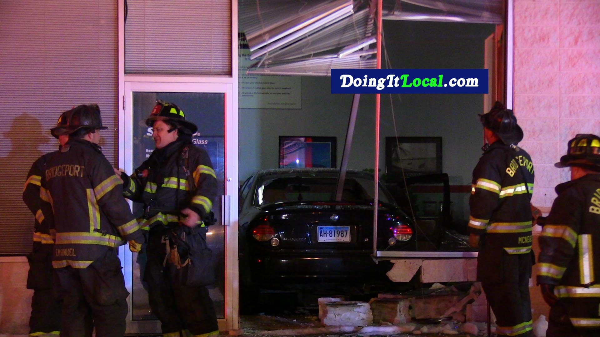 Bridgeport News: Car Crashes Into A Building