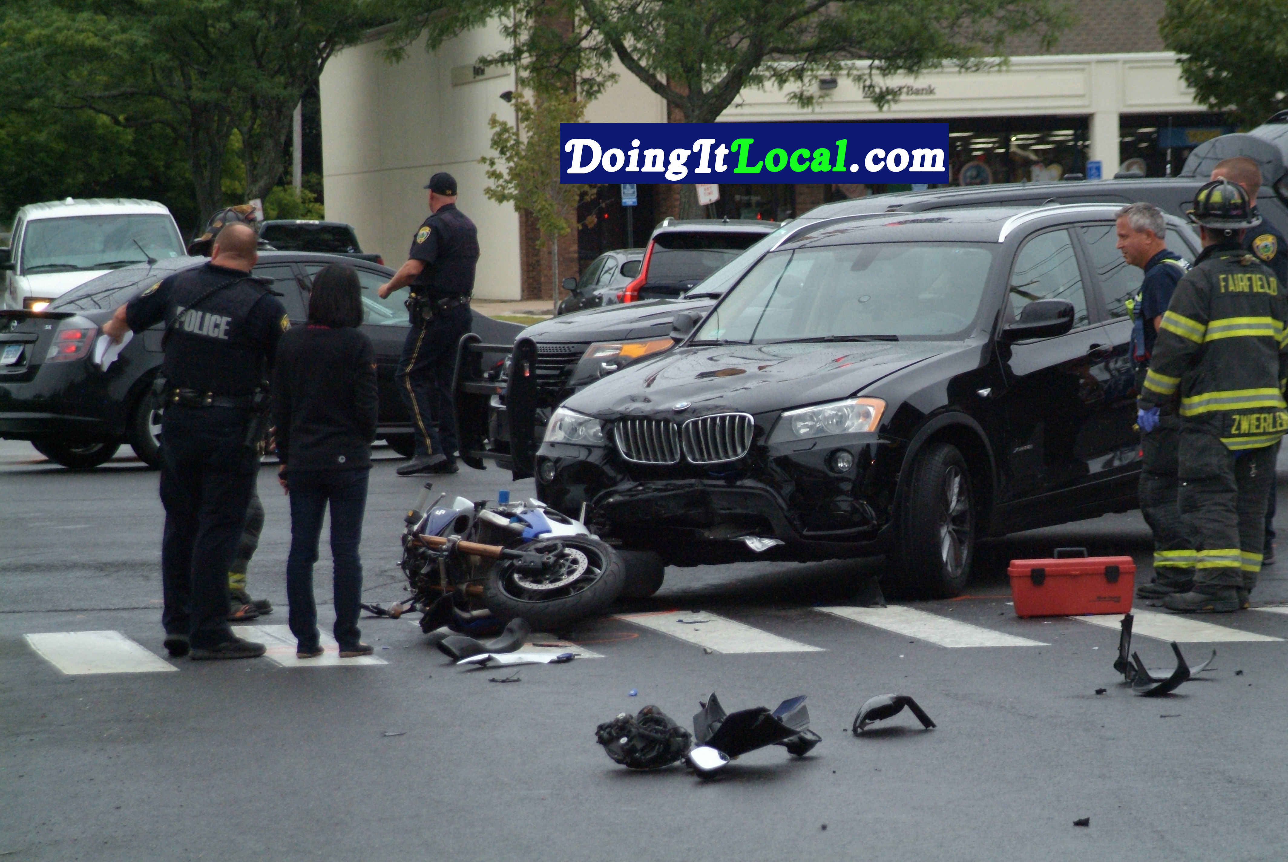 351pm Fairfield CT Police Are Investigating A Crash Between Car And Motorcycle At North Benson Road Post The Motorcyclist Was Injured