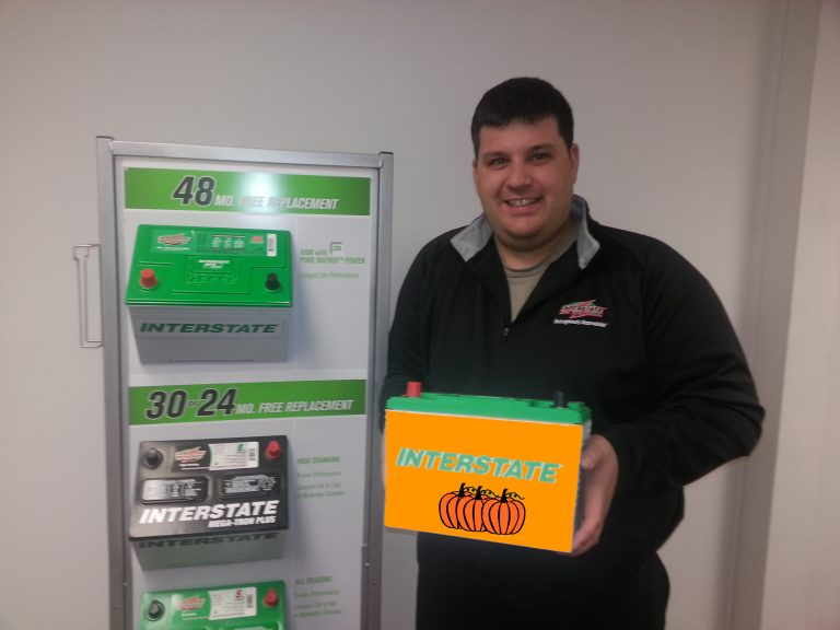 Larry at Interstate Batteries of Fairfield and Litchfield Counties is the EXCLUSIVE distributor of the Pumpkin Spice Battery!